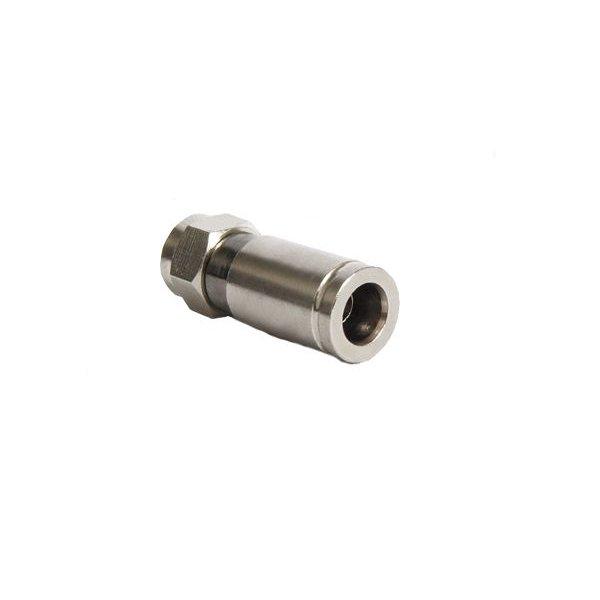 10x F-Kompressionsstecker Vollmetall - 4,6mm bis 8mm - verschiene Gr&