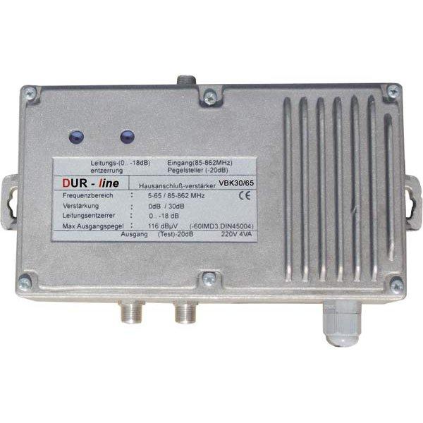 VBK30/65 DVB-C Kabel Hausanschlussverstärker mit 30 dB Verst&aum
