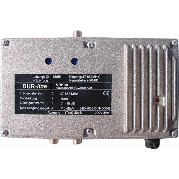 VBK30 DVB-C Kabel Hausanschlussverstärker mit 30 dB Verstär